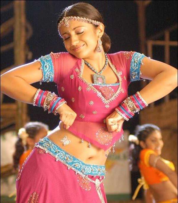 Trisha Krishnan Hot Navel Show